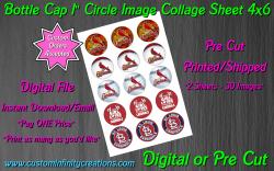St Louis Cardinals Baseball Bottle Cap 1 Circle Images #5 (digital or pre cut)