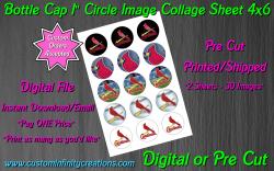 St Louis Cardinals Baseball Bottle Cap 1 Circle Images #6 (digital or pre cut)