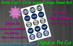Tampa Bay Rays Baseball Bottle Cap 1 Circle Images #2 (digital or pre cut)