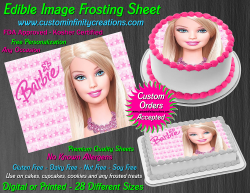 Barbie Edible Image Icing Frosting Sheet #3 Cake Cupcake Cookie Topper