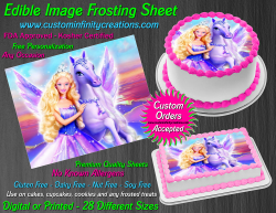Barbie Edible Image Icing Frosting Sheet #17 Cake Cupcake Cookie Topper