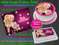 Barbie Edible Image Icing Frosting Sheet #29 Cake Cupcake Cookie Topper