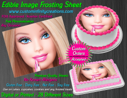 Barbie Edible Image Icing Frosting Sheet #30 Cake Cupcake Cookie Topper
