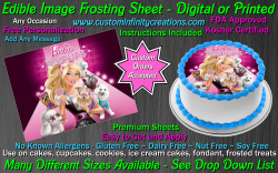 Barbie Edible Image Icing Frosting Sheet #31 Cake Cupcake Cookie Topper
