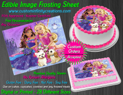 Barbie Edible Image Icing Frosting Sheet #50 Cake Cupcake Cookie Topper