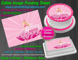 Barbie Edible Image Icing Frosting Sheet #79 Cake Cupcake Cookie Topper