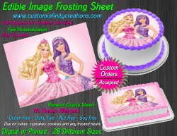 Barbie Edible Image Icing Frosting Sheet #84 Cake Cupcake Cookie Topper