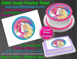 Barbie Dreamtopia Edible Image Frosting Sheet #91 Cake Cupcake Cookie Topper