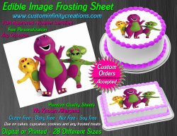 Barney and Friends Edible Image Frosting Sheet #3 Cake Cupcake Cookie Topper