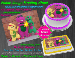 Barney and Friends Edible Image Frosting Sheet #6 Cake Cupcake Cookie Topper
