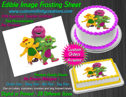 Barney and Friends Edible Image Frosting Sheet #9 Cake Cupcake Cookie Topper
