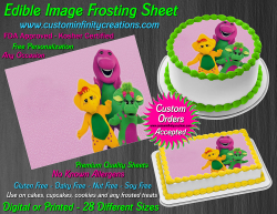 Barney and Friends Edible Image Frosting Sheet #13 Cake Cupcake Cookie Topper