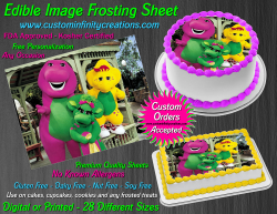 Barney and Friends Edible Image Frosting Sheet #20 Cake Cupcake Cookie Topper