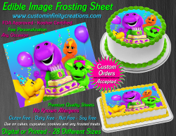 Barney and Friends Edible Image Frosting Sheet #21 Cake Cupcake Cookie Topper