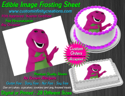 Barney Edible Image Icing Frosting Sheet #24 Cake Cupcake Cookie Topper