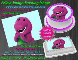 Barney Edible Image Icing Frosting Sheet #25 Cake Cupcake Cookie Topper
