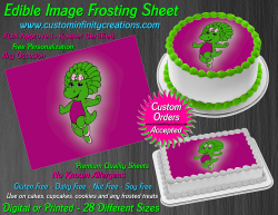 Baby Bop Barney Edible Image Icing Frosting Sheet #28 Cake Cupcake Cookie Topper
