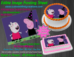 Peppa Pig Halloween Edible Image Frosting Sheet #2H Cake Cupcake Cookie Topper