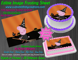 Peppa Pig Halloween Edible Image Frosting Sheet #5H Cake Cupcake Cookie Topper