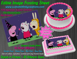 Peppa Pig Halloween Edible Image Frosting Sheet #6H Cake Cupcake Cookie Topper