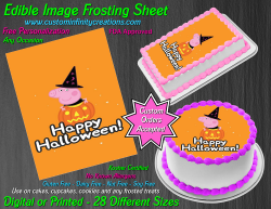 Peppa Pig Halloween Edible Image Frosting Sheet #7H Cake Cupcake Cookie Topper