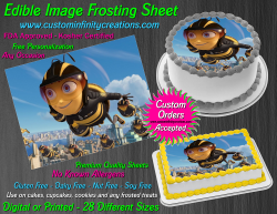 Bee Movie Edible Image Icing Frosting Sheet #35 Cake Cupcake Cookie Topper