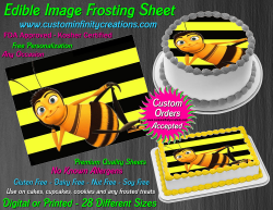 Bee Movie Edible Image Icing Frosting Sheet #36 Cake Cupcake Cookie Topper