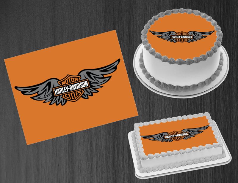 Harley Davidson Edible Printed Cake Topper Edible Premium Icing Sheet