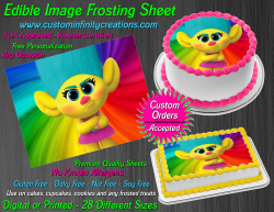 Smidge Trolls Edible Image Icing Frosting Sheet #8 Cake Cupcake Cookie Topper