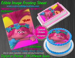 Poppy Trolls Edible Image Icing Frosting Sheet #65 Cake Cupcake Cookie Topper