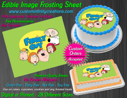 Family Guy Edible Image Icing Frosting Sheet #4 Cake Cupcake Cookie Topper
