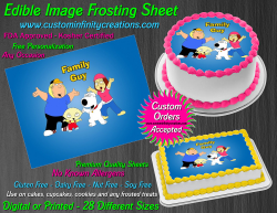Family Guy Edible Image Icing Frosting Sheet #10 Cake Cupcake Cookie Topper