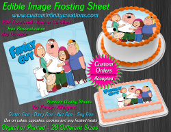 Family Guy Edible Image Icing Frosting Sheet #14 Cake Cupcake Cookie Topper