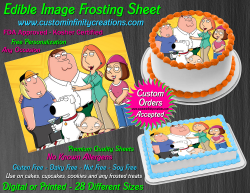 Family Guy Edible Image Icing Frosting Sheet #18 Cake Cupcake Cookie Topper