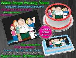 Family Guy Edible Image Icing Frosting Sheet #20 Cake Cupcake Cookie Topper