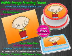 Stewie Family Guy Edible Image Frosting Sheet #22 Cake Cupcake Cookie Topper