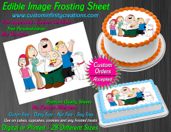 Family Guy Edible Image Icing Frosting Sheet #23 Cake Cupcake Cookie Topper