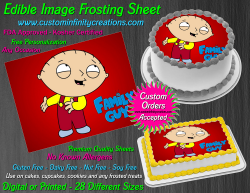 Stewie Family Guy Edible Image Frosting Sheet #24 Cake Cupcake Cookie Topper