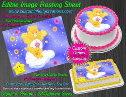 Care Bears Birthday Bear Edible Image Frosting Sheet #5 Cake Cupcake Topper