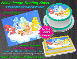 Care Bears Edible Image Icing Frosting Sheet #10 Cake Cupcake Cookie Topper