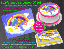 Care Bears Edible Image Icing Frosting Sheet #24 Cake Cupcake Cookie Topper