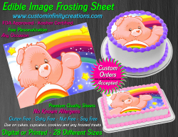 Care Bears Cheer Bear Edible Image Frosting Sheet #30 Cake Cupcake Topper
