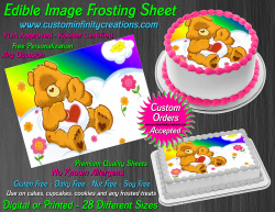 Care Bears Tenderheart Bear Edible Image Frosting Sheet #45 Cake Cupcake Topper