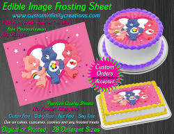 Care Bears Edible Image Icing Frosting Sheet #61 Cake Cupcake Cookie Topper