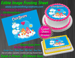 Care Bears Edible Image Icing Frosting Sheet #69 Cake Cupcake Cookie Topper