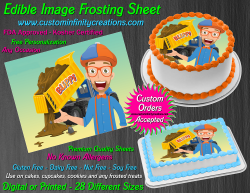 Blippi Edible Image Icing Frosting Sheet #1 Cake Cupcake Cookie Topper