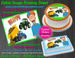 Blippi Edible Image Icing Frosting Sheet #2 Cake Cupcake Cookie Topper