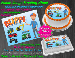 Blippi Edible Image Icing Frosting Sheet #3 Cake Cupcake Cookie Topper
