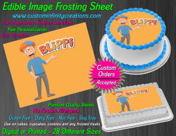 Blippi Edible Image Icing Frosting Sheet #4 Cake Cupcake Cookie Topper
