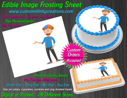 Blippi Edible Image Icing Frosting Sheet #5 Cake Cupcake Cookie Topper